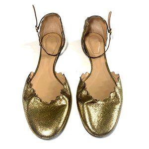 Chloe 'Lauren' Ankle Strap Flats